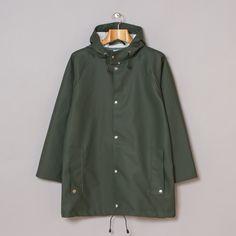 M.H.L. by Margaret Howell: Waterproof Navy Jacket Dark Green