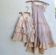CUSTOM EXAMPLE shabby ivory gauzey rustic boho flower girls off white princess eco gypsy ecru dress