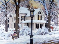 Winter Tranquility by John Sloane