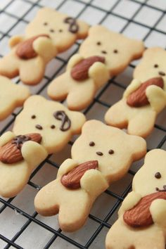 Almond Hugging Teddy Bear Cookies