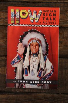 1950s Vintage Native American Sign Language Book  by TheBlackVinyl, $10.00 #vintagebooks #nativeamerican #indian #book #vintage