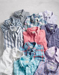 J.Crew men's Secret Wash shirts.