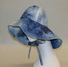 Denim fisherman-style hat, by Serendipity 3, American, 1977.