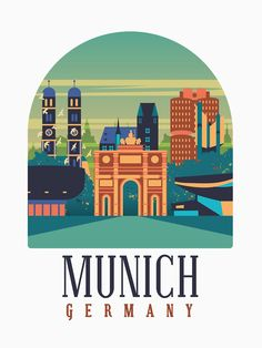 Tourism Poster, Europe, Munich Germany, Travel Memories, Vintage Travel Posters, Olympics, Classic T Shirts, Clip Art, Graphics