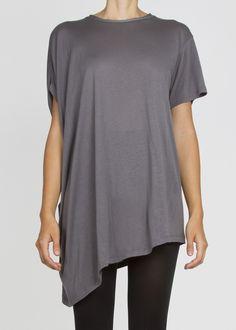 Asymmetric unisex short sleeved tshirt .