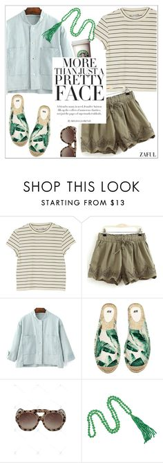 """""""Zaful"""" by teoecar ❤ liked on Polyvore featuring Monki, H&M, Kenneth Jay Lane and zaful"""