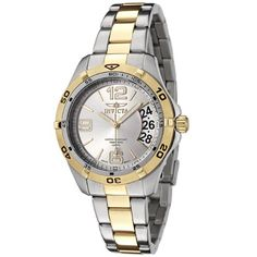 Women's Wrist Watches - Invicta Womens 0093 II Sport Day Collection TwoTone Watch *** Visit the image link more details.