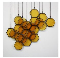 Wall Decor inspiration (via Stained Glass Honeycomb Drops on Etsy)
