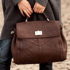 Vintage Perfect Hand Pattern Handmade Noble Genuine Leather Handbag Messenger Bag for Women $278.00