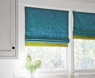 Window Treatment Idea Mid Century Modern Color Blocked Roman Shade