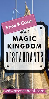 Trying to decide where to eat on your next Disney World trip? Check out this complete list of all Table Service, Quick Service and kiosk dining locations in Magic Kingdom | Pros and cons of all restaurants | $ Prices $