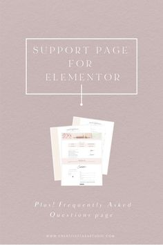 These support and Faq pages are made using the free Elementor Page Builder plugin for WordPress. You can add your own branding, copywriting, photography, and other elements like colors and fonts. #Wordpress #Elementor #Branding