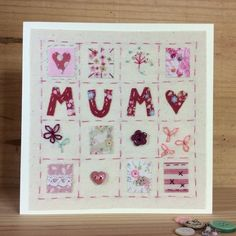 Patchwork Mother's Day card