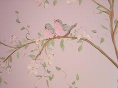 fairy tea party   Fairy Tea Party Mural - with Tree, Birds, Bunny & More!   Flickr ...