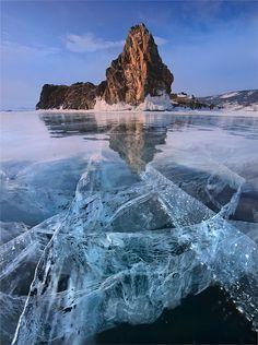 Baikal Lake, Siberia, Russia - largest fresh water lake in the world.