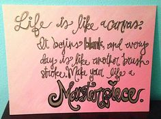 Ombre Quote 12x16 Thin Canvas (Choose your own) on Etsy, $28.00