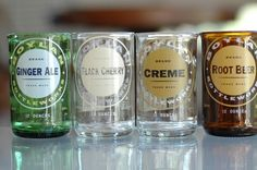#recycled #bottles as drinking glasses
