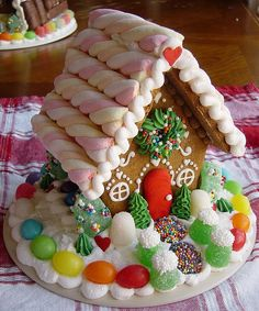 sweet tiny house -- i like the candy rope they used on the roof!