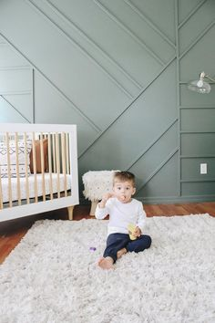 Creating a wood accent wall in a little boy's room. - Creating a Modern Wood Accent Wall - Within the Grove
