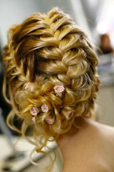 HOW TO: Elegant Fishtail Braided Bridal, Formal Up-style - hoping my hair will take this style!