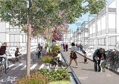 Gallery of Shortlist announced for the North West Cambridge extension - 9 Landscape Diagram, Urban Landscape, Landscape Design, Architecture Drawings, Architecture Portfolio, Landscape Architecture, Rendering Architecture, Architecture Diagrams, Classical Architecture
