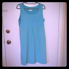 Columbia Sportswear sundress XL Cute, cool and comfy sundress in gently worn condition. Pretty blue color that is stretchy, but not too clingy. It's part of their performance fishing gear collection so it's super cool. Poylester and elastane. Measures 36 inches from the nape of the neck to the bottom of the hem. Size is true. Columbia Dresses Midi