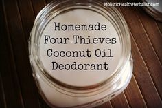 homemade deodorant - I've been using Bubble and Bee's Pit Putty Cream for a couple of years now.  This looks to be a similar recipe and much cheaper to make myself.