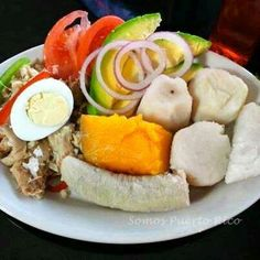 Viandas con bacalao. Ay Dios mio, que rico!  A very typical healthy lunch in PR