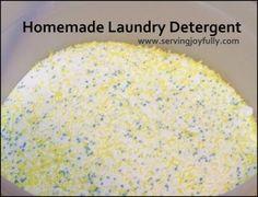 Homemade Laundry Detergent-powdered