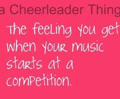 "I didnt do comp, but I remember the feeling of music starting at half time! My daughter does comp, and I know how excited I was when they started, so I imagine those girls had ""the feeling""."