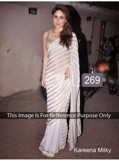 ShoppingOye: KAREENA KAPOOR IN WHITE SAREE Bollywood actress Ka...