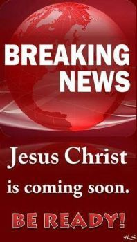 Breaking news: Jesus is coming soon! Be ready! Repent of your sins, invite JESUS into your heart and ask Him to be your Savior. Love The Lord, God Is Good, Christian Life, Christian Quotes, Christian Living, Jesus Is Coming, My Jesus, King Jesus, Jesus Peace
