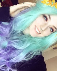So pretty see our sweet honey @awkward.small.talk looks so cute in this Green/Lavender Loose Wave Ombre Color wig.Girlsdo you love it?wig sku:edw1109 Use Coupon Code: INSTAcan get 10% Off on your order. http://ift.tt/2fenChb #beauty#frontlacewig #frontlacewigs#syntheticwigs#synthetic#cute