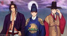 Hanbok Story 5 by Glimja on DeviantArt Character Concept, Concept Art, Character Design, Korean Art, Asian Art, Korean Traditional, Traditional Outfits, Character Illustration, Illustration Art