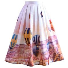 Chicwish Hot Air Balloon Festival Print Midi Skirt (1,865 PHP) ❤ liked on Polyvore featuring skirts, multi, party skirts, print skirt, straight skirt, patterned midi skirt and midi skirt