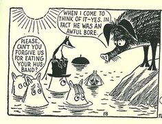 Moomin by Tove Jansson Tove Jansson, Moomin Cartoon, Moomin Valley, Little My, Children's Book Illustration, Comic Character, Comic Strips, Make Me Smile, Childrens Books