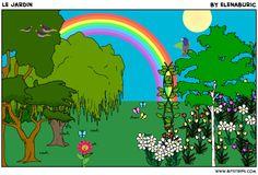 """""""Le jardin"""". Images à toucher pour apprendre le vocabulaire et pour fixer les articles définis (débutants)"""