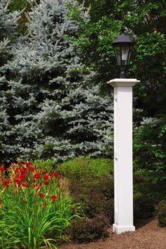 PVC pillar lantern post - Walpole Outdoors