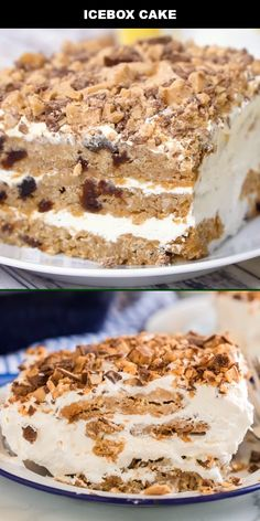 This refreshing, delicious icebox cake is one of my favorite go-to no-bake desserts. My grandma's old-fashioned chilled Icebox Desserts, Icebox Cake Recipes, Ice Cream Desserts, Oreo Dessert, No Bake Desserts, Ice Cream Cakes, Ice Cream Cookie Cake, Oreo Icebox Cake, Cool Whip Desserts