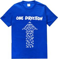 Free Shipping Trend Fashion New Arrival Online Stock Blue Color One Direction Brand Man Woman Lover T Shirts Tees Do Mix Order $17.99