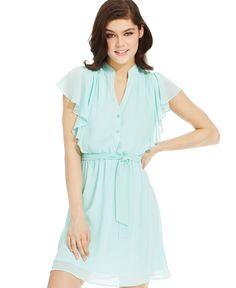 Bcx Juniors' Butterfly-Sleeve Dress