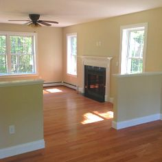Great set up here for a family that wants to divide up living room space   creatively.
