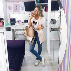 How to wear long vests Stylish Summer Outfits, Basic Outfits, Casual Fall Outfits, Cute Outfits, Look Blazer, Professional Outfits, Swagg, Types Of Fashion Styles, Casual Chic