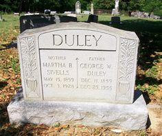Western Kentucky Genealogy Blog: Tombstone Tuesday - Martha B. & George W. Duley #genealogy