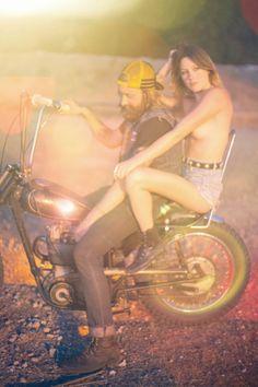 moto couple. free spirits. ride.