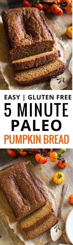 Best Paleo Pumpkin bread. Easy homemade Thanksgivi…