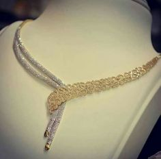 Real Diamond Necklace, Gold Necklace, Diamond Jewelry, New Jewellery Design, Gold Jewellery, Gold Jewelry Simple, Trendy Jewelry, Jewelry Patterns, Necklace Designs