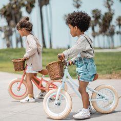 BanwoodBikesFirstGoBalanceBikeCoralSky2 Cute Kids Photography, Bike Photography, Bike Look, Baby Bike, Balance Bike, Beach Kids, Kids Bike, Venice Beach, Kids And Parenting