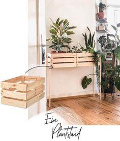 Pflanzenständer mit IKEA Kisten selber bauen - WOHNKLAMOTTE