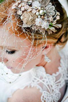 My Bridal Portrait Session- vintage birdcage
